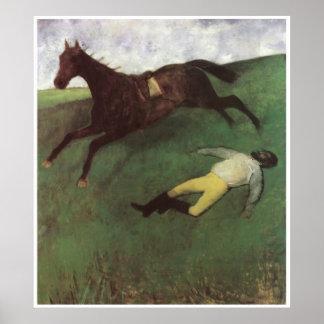 Jinete caido C 1896-98 Edgar Degas Posters