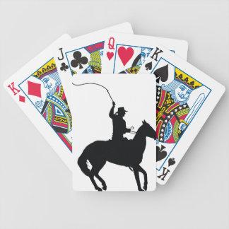 Jinete con el azote baraja de cartas