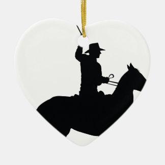 Jinete con el azote adorno de cerámica en forma de corazón