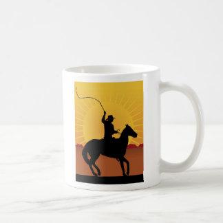 Jinete con el azote taza de café