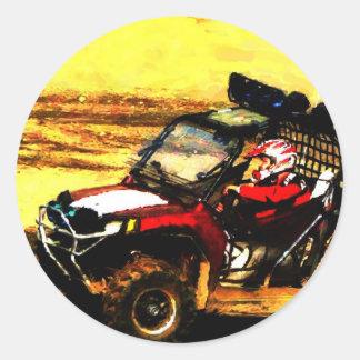 Jinete de ATV - todo el Motorsports del extremo Pegatina Redonda