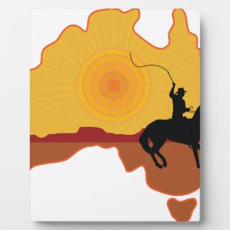 Jinete de Australia Placas Con Fotos
