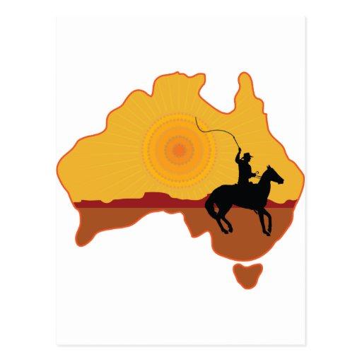 Jinete de Australia Tarjeta Postal