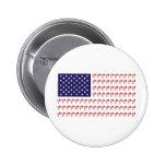 Jinete de BMX - bandera americana patriótica+ Pin