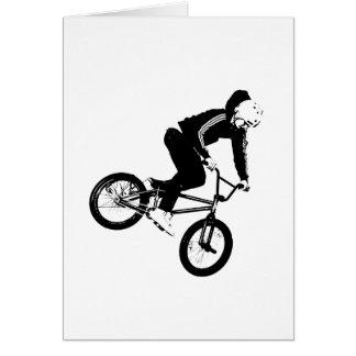 Jinete de BMX en blanco y negro Felicitaciones