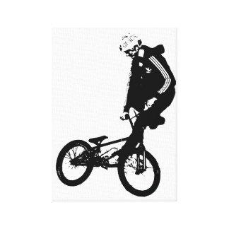 Jinete de BMX Lona Estirada Galerías