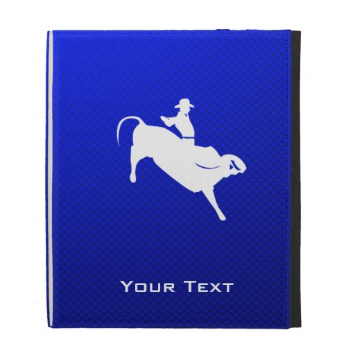 Jinete de Bull azul