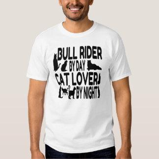 Jinete de Bull del amante del gato Playeras