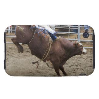 Jinete de Bull en el rodeo iPhone 3 Tough Cárcasa