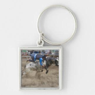 Jinete de Bull lanzado de toro Llavero Personalizado