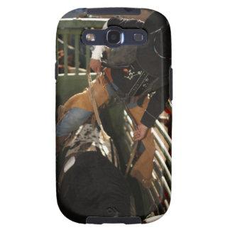 Jinete de Bull que ata la cuerda en toro en el can Samsung Galaxy S3 Cárcasa