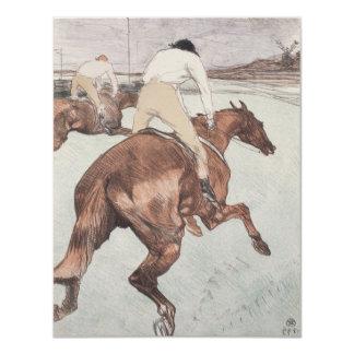 Jinete de Enrique de Toulouse-Lautrec Invitación 10,8 X 13,9 Cm