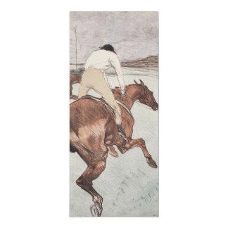 Jinete de Enrique de Toulouse-Lautrec Invitación 10,1 X 23,5 Cm
