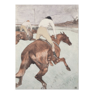 Jinete de Enrique de Toulouse-Lautrec Invitación 16,5 X 22,2 Cm