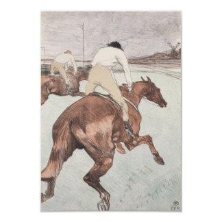 Jinete de Enrique de Toulouse-Lautrec Invitación 8,9 X 12,7 Cm
