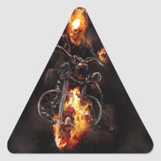 Jinete de Gosth Pegatina Triangular