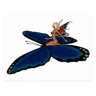 Jinete de hadas de la mariposa postales