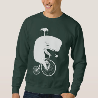 Jinete de la ballena en una bici del comino del jersey