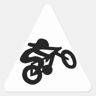 Jinete de la bici pegatina triangular
