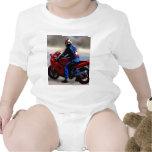 Jinete de la bici trajes de bebé