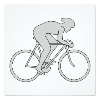 Jinete de la bicicleta en gris comunicados personalizados