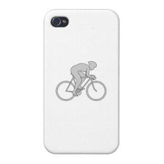 Jinete de la bicicleta en gris iPhone 4/4S carcasa