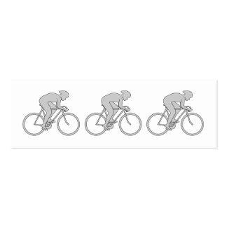 Jinete de la bicicleta en gris tarjetas de visita mini
