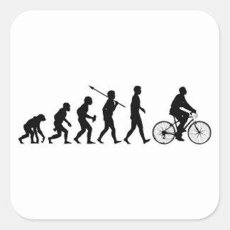 Jinete de la bicicleta pegatina cuadrada