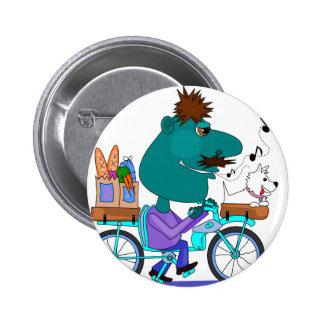 Jinete de la bicicleta que silba