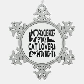 Jinete de la motocicleta del amante del gato adornos