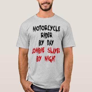 Jinete de la motocicleta del asesino del zombi playera