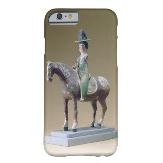 Jinete de la señora, Astaná, siglo VII (estuco) Funda Para iPhone 6 Barely There