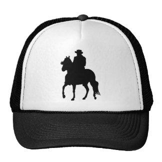 Jinete de la silueta del caballo de Paso Fino Gorros