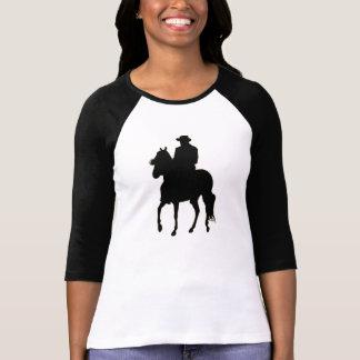Jinete de la silueta del caballo de Paso Fino Camiseta