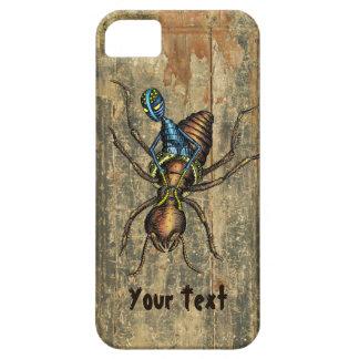 Jinete de la termita (en la textura de madera) funda para iPhone SE/5/5s