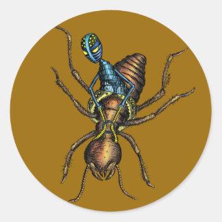 Jinete de la termita pegatina redonda