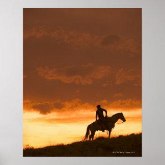 Jinete de lomo de caballo 10 póster