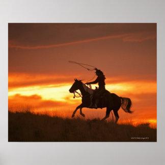 Jinete de lomo de caballo 11 póster