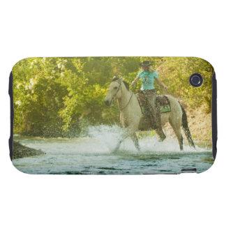 Jinete de lomo de caballo 16 iPhone 3 tough protector