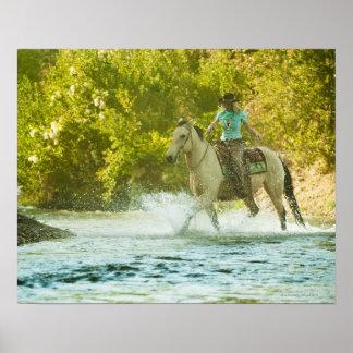 Jinete de lomo de caballo 16 póster