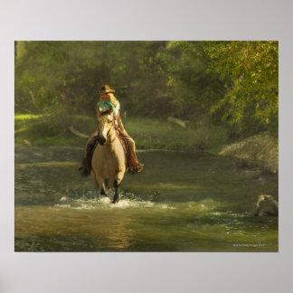 Jinete de lomo de caballo 17 póster