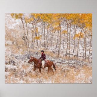 Jinete de lomo de caballo 18 póster