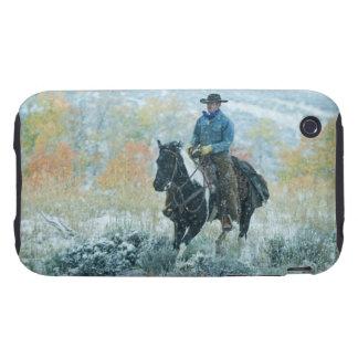 Jinete de lomo de caballo 19 tough iPhone 3 carcasa