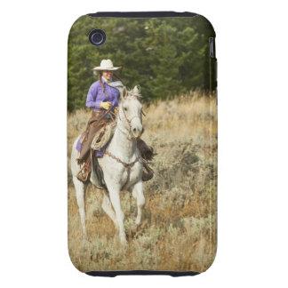 Jinete de lomo de caballo 20 tough iPhone 3 protectores