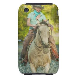 Jinete de lomo de caballo 21 iPhone 3 tough cobertura