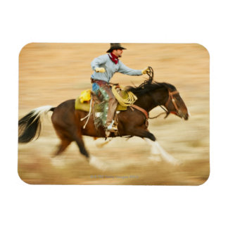 Jinete de lomo de caballo 23 iman rectangular