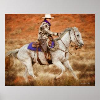 Jinete de lomo de caballo 2 póster