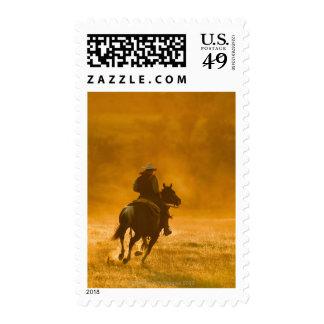 Jinete de lomo de caballo 3 sello postal