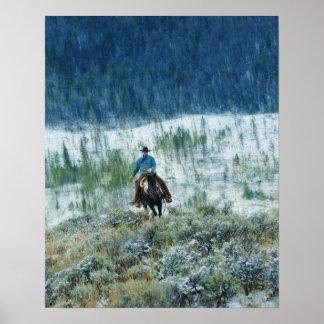 Jinete de lomo de caballo 4 póster