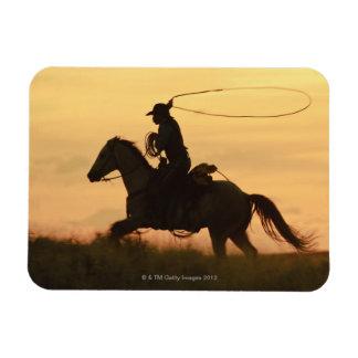 Jinete de lomo de caballo 6 imán rectangular